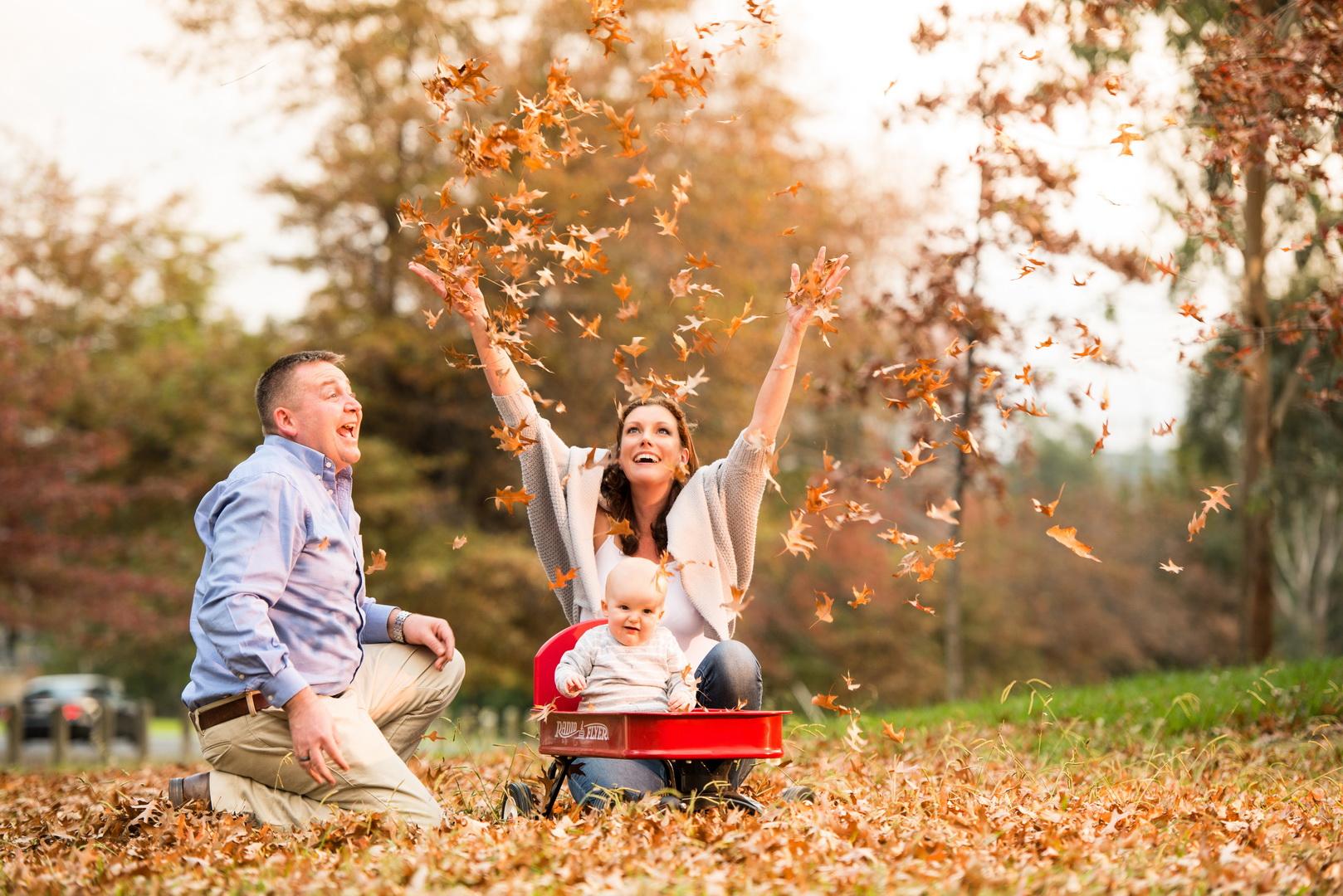 Идеи для осеннего фото с малышом